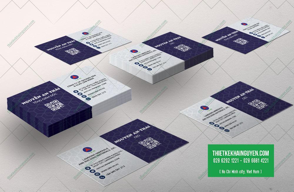 Name card Công ty Khoáng Sản Vật Liệu Xây Dựng Lâm Đồng