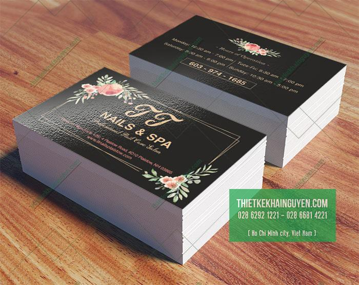 Mẫu thiết kế Name card TT Nail & Spa