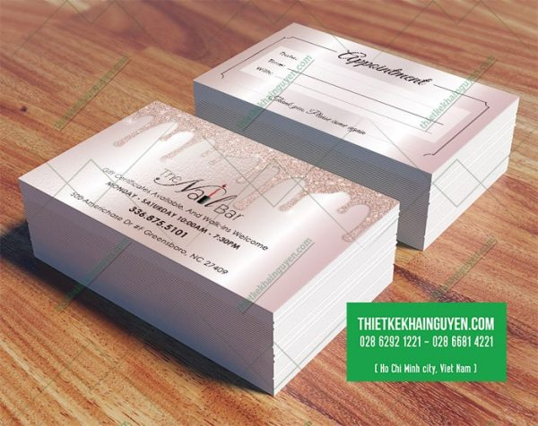 The Nail Spa - Phiếu lịch hẹn - appointment card