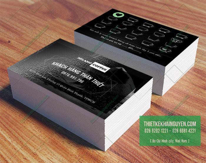 Thẻ khách hàng thân thiết - thẻ tích điểm coffee