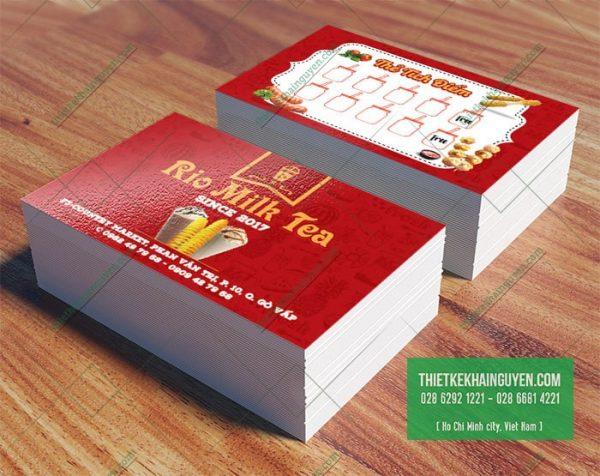 Rio Milk Tea - thiết kế thẻ tích điểm trà sữa đẹp