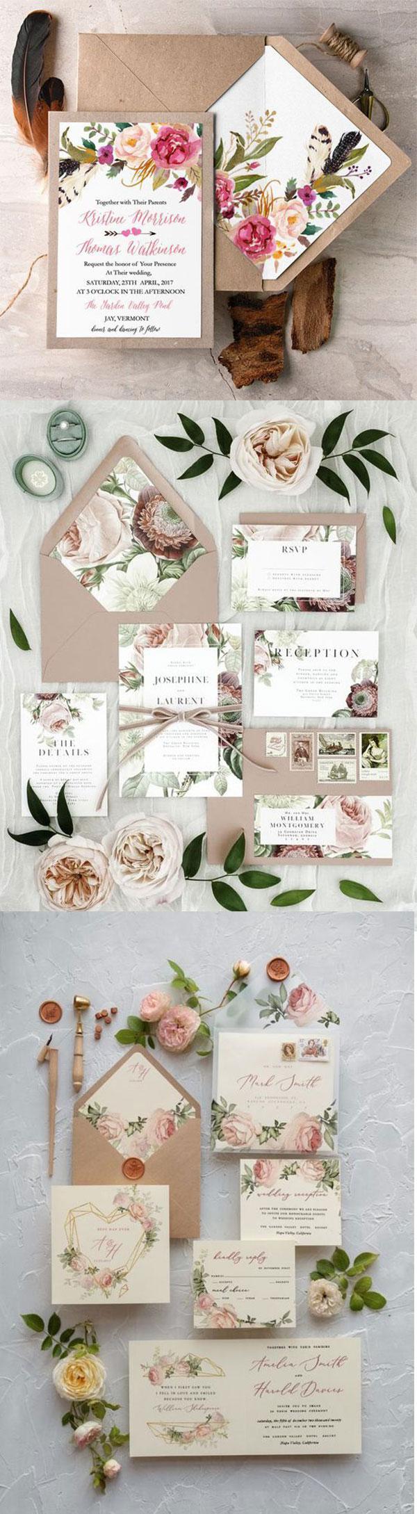 Thiệp mời kraft hình hoa siêu đẹp