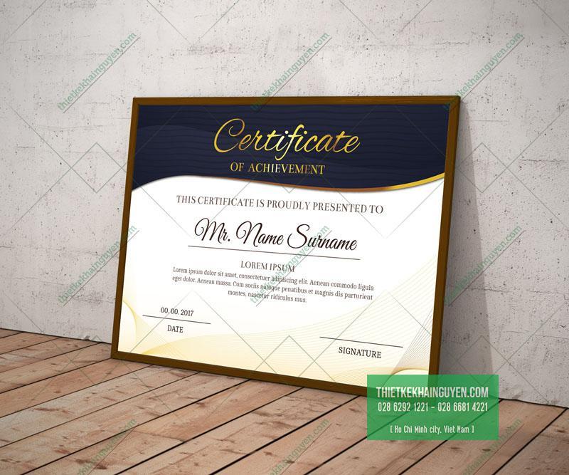 Certificate template - Mẫu giấy chứng nhận đẹp