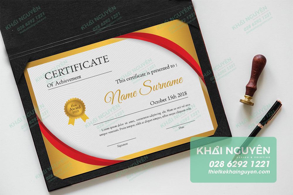 Gold Certificate - Bằng khen/giấy chứng nhận vàng