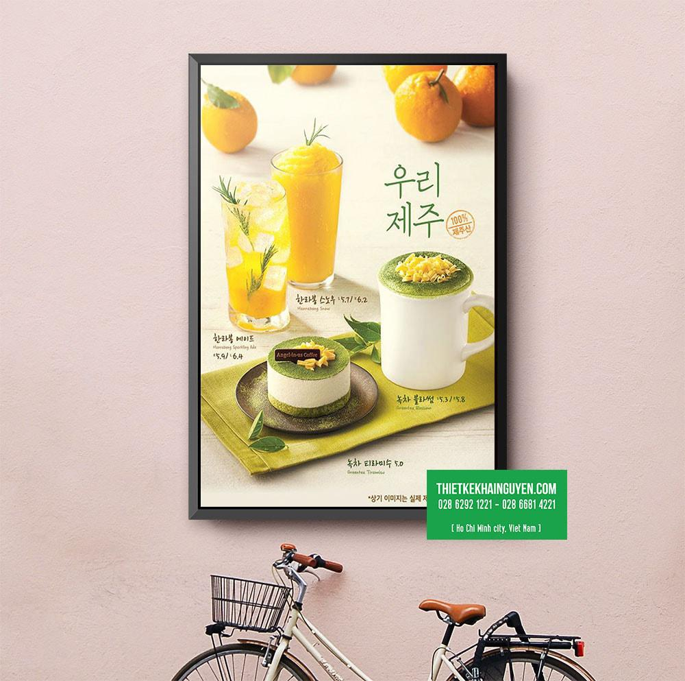 Mẫu poster menu cực đẹp