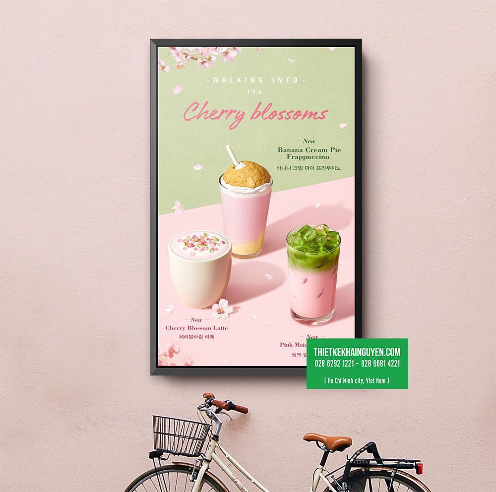 Thiết kế menu poster quảng cáo món mới hiệu quả