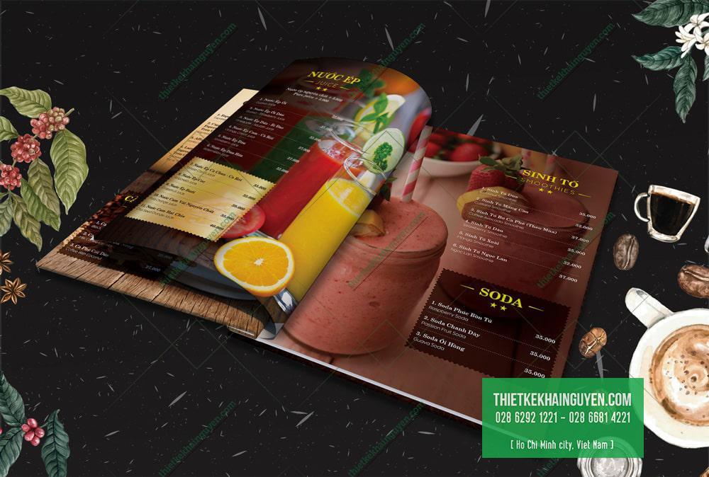 Hình ảnh đẹp giúp cuốn menu bắt mắt hơn