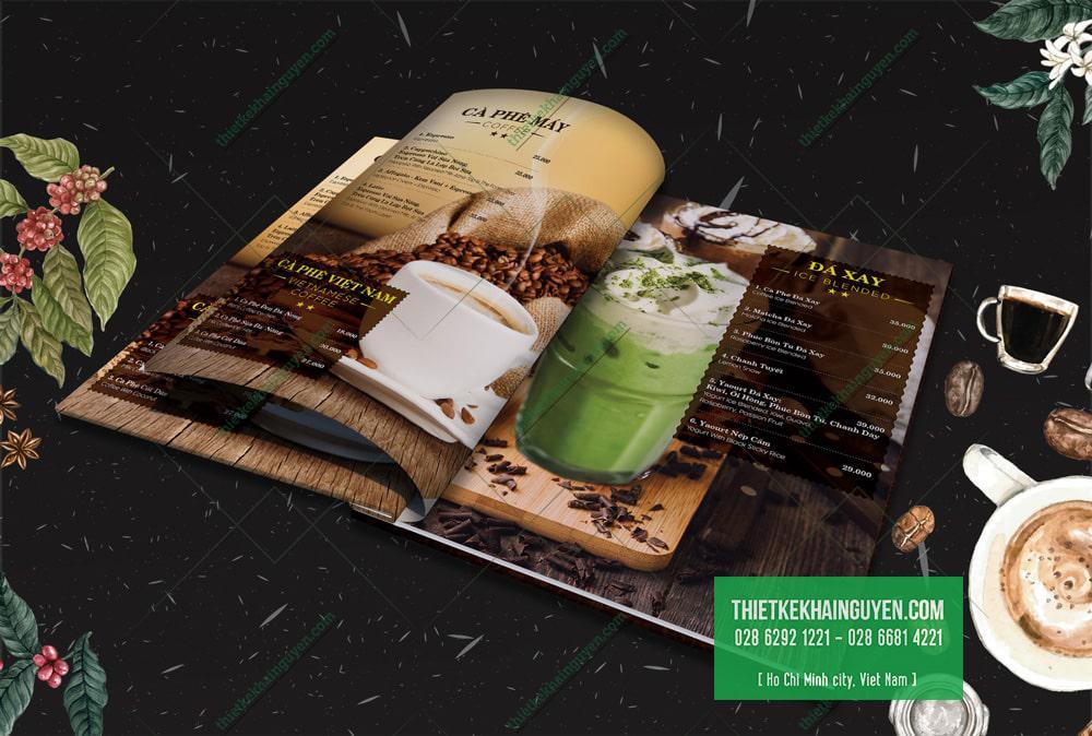Ngọc Lan Coffee - thiết kế menu đẹp cho quán cafe