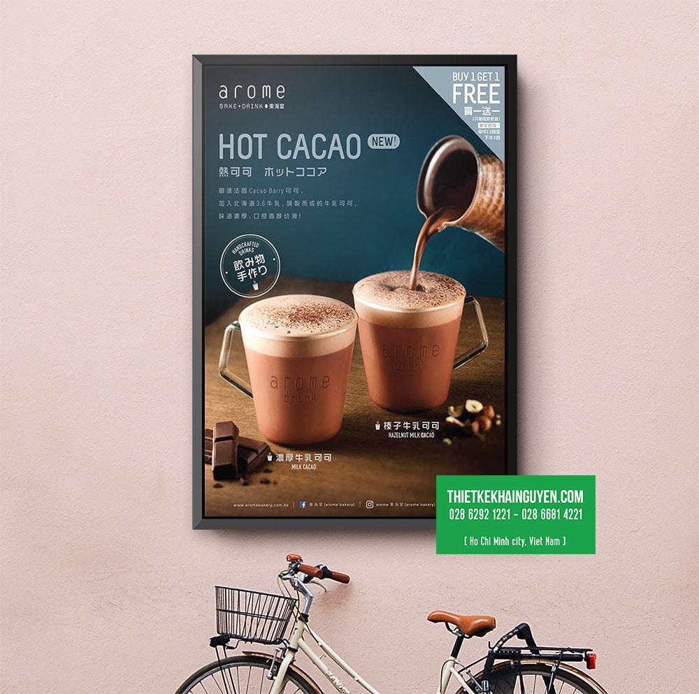 Poster Cacao - thiết kế menu trang trí ấn tượng