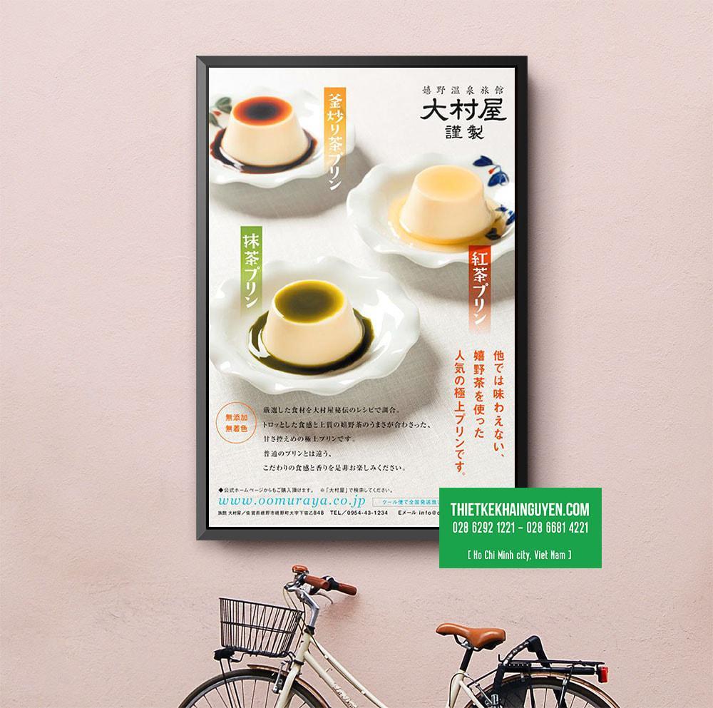 Món mới: poster bánh ngọt hấp dẫn