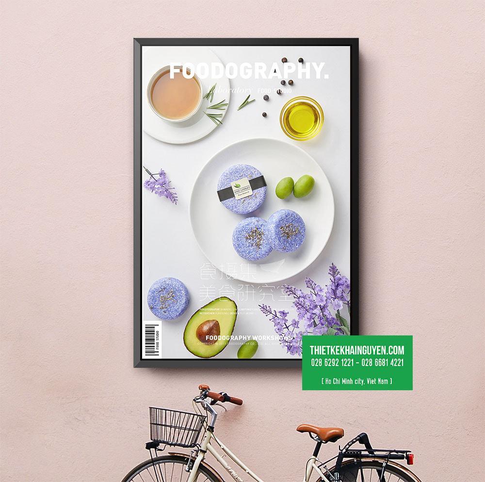 Mẫu thiết kế poster bánh ngọt xinh xắn