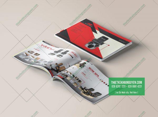 Thiết kế catalogue cho sản phẩm ghế massage