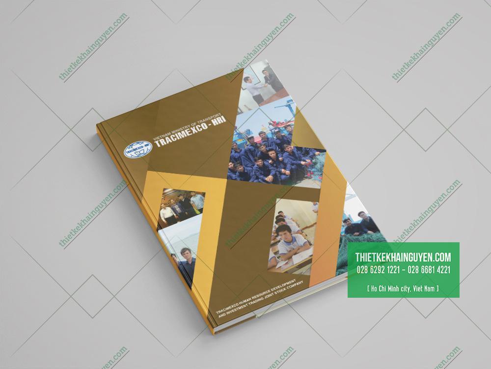 Hồ sơ năng lực công ty vận chuyển - mẫu bìa đóng gáy keo