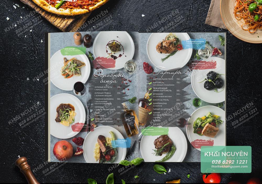 Tạo sự đối xứng mạnh mẽ cho cuốn menu