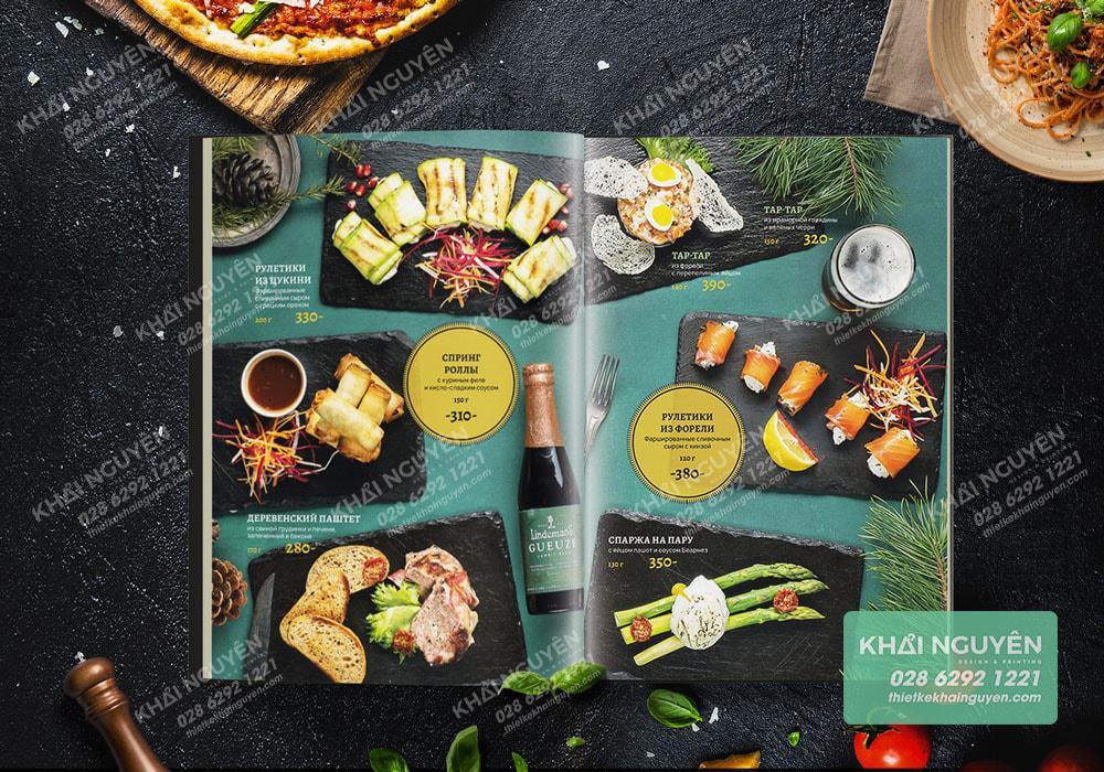 Hãy tạo điểm nhất cho cuốn menu với hình tròn diệu kỳ