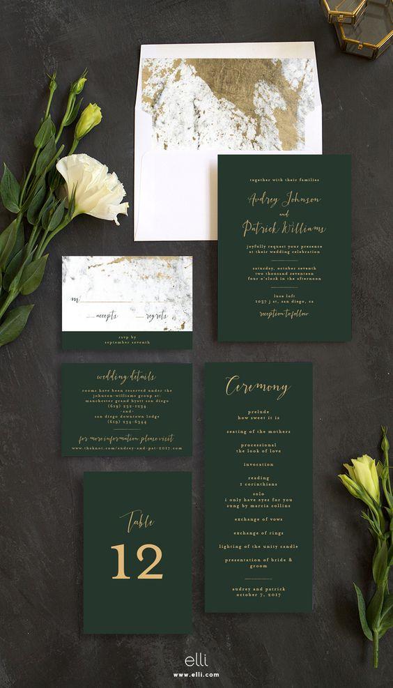 Bộ thiệp cưới thanh lịch với thiết kế hết sức ấn tượng