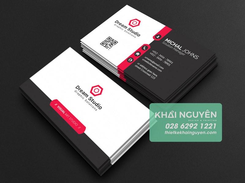 Một mẫu thiết kế card visit in qrcode chuyên nghiệp