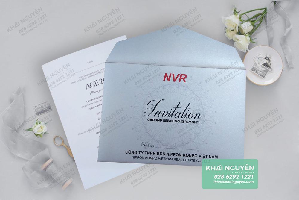 Thiệp mời giấy mỹ thuật - thiệp sự kiện đẹp