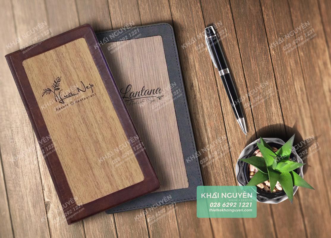 Bìa kẹp bill cao cấp được làm bằng gỗ