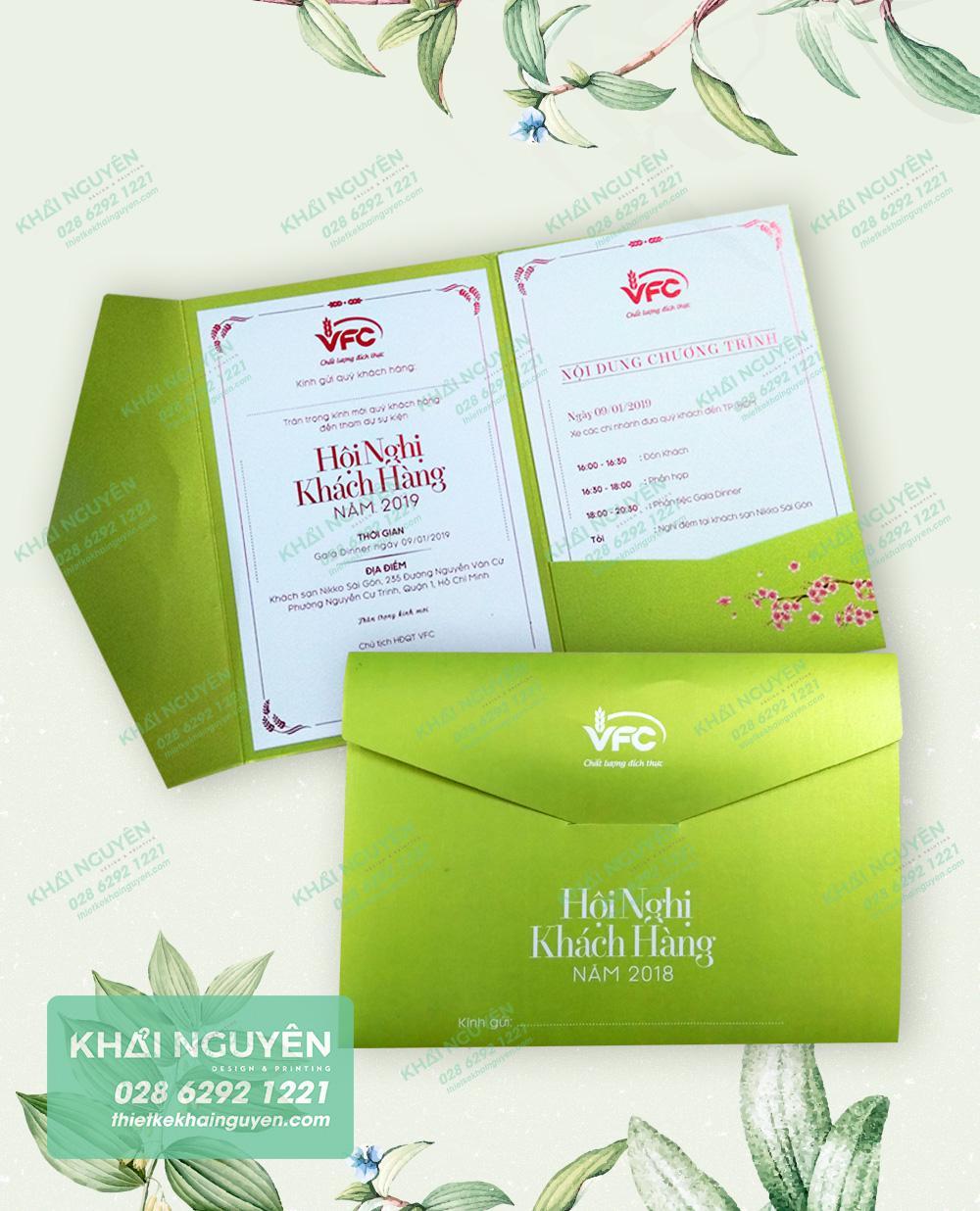 Thiệp hội nghị khách hàng - thiệp giấy mỹ thuật