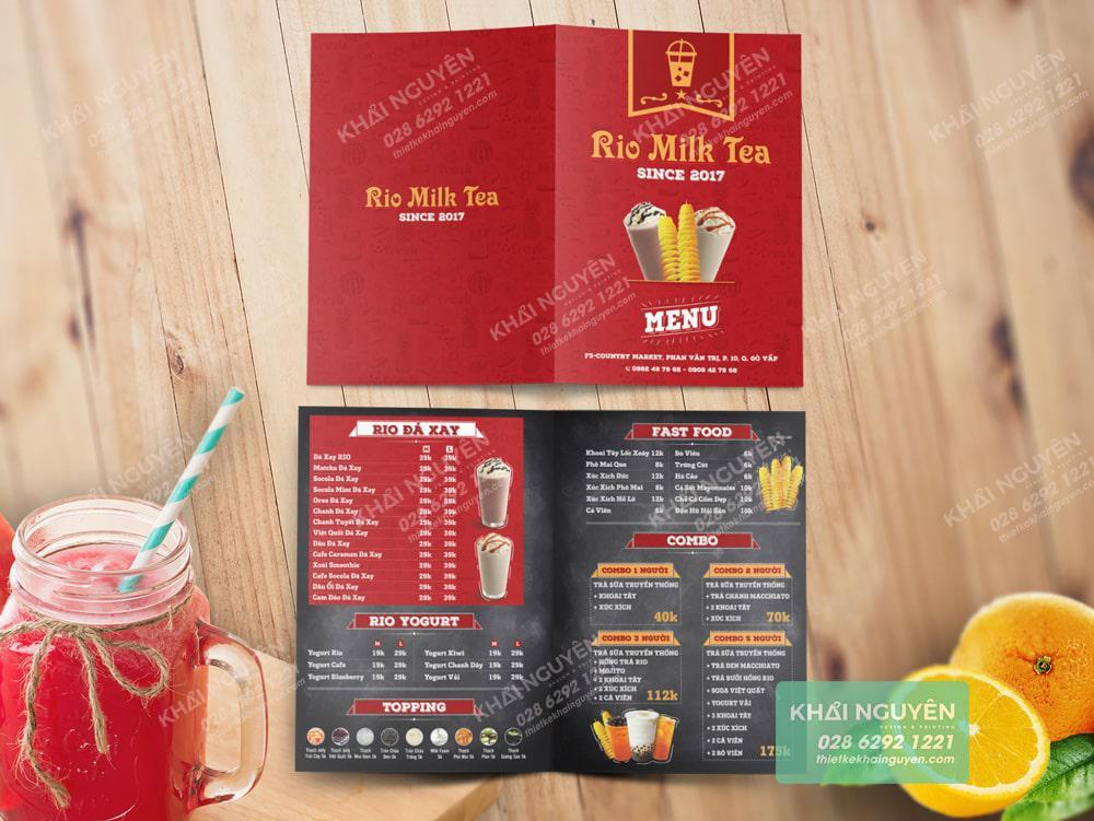 Sinh động, trà đầy sức sống với mẫu thiết kế trà sữa RIO