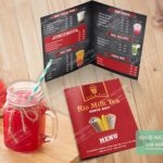 Thiết kế & in menu gấp đôi, menu gập đôi, gọn nhẹ, tiện dụng