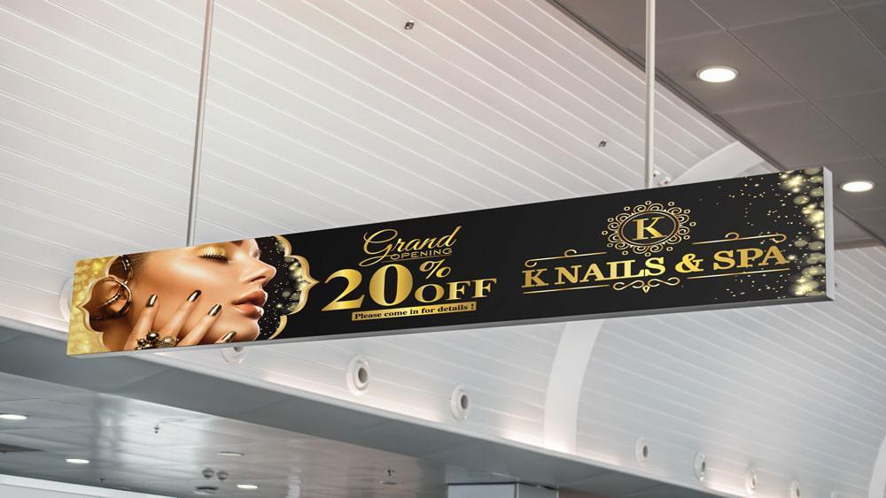Banner quảng cáo sale off Khai Trương - Knails