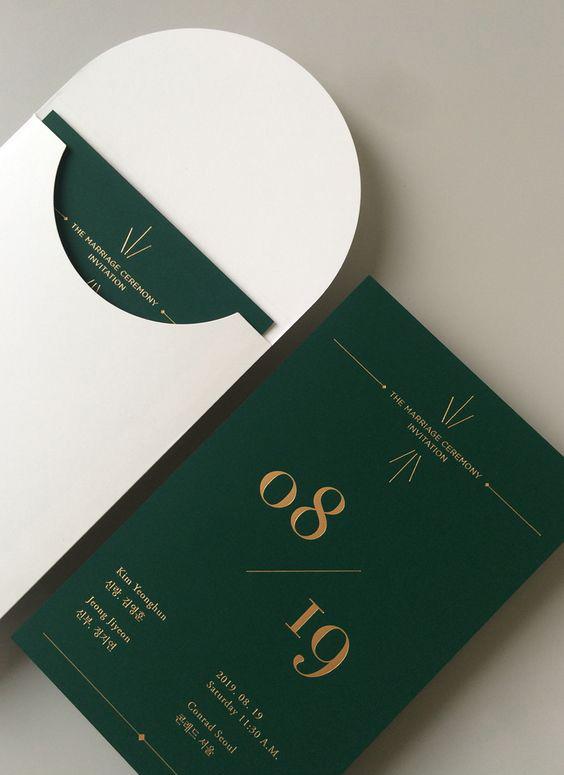 Thiệp ép kim sang trọng trên nền giấy mỹ thuật