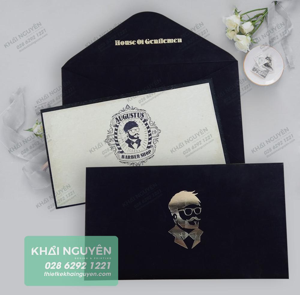 Bộ thiệp ép kim đặc biệt trên giấy mỹ thuật mịn như nhung