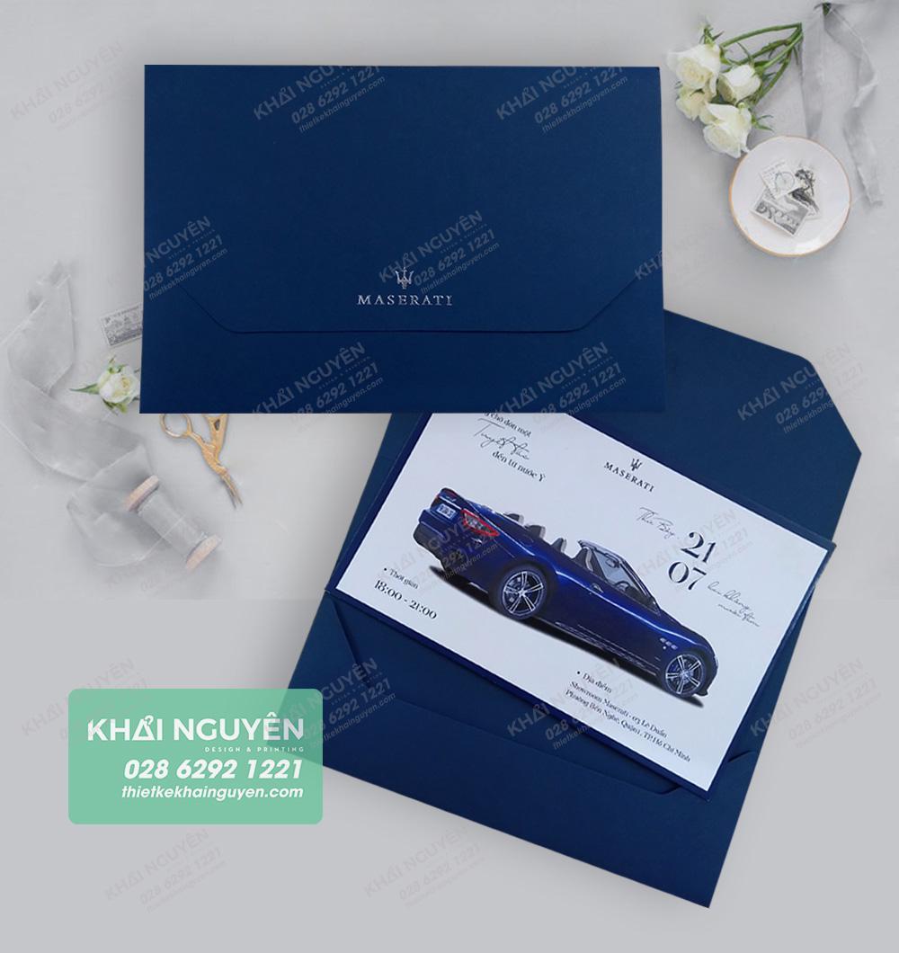 Thiệp dự sự kiện khai trương siêu xe - mẫu thiệp mời 2019