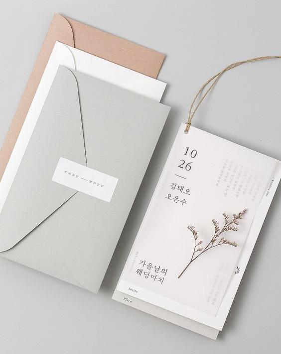 Bộ thiệp cưới cực chất với giấy trong suốt