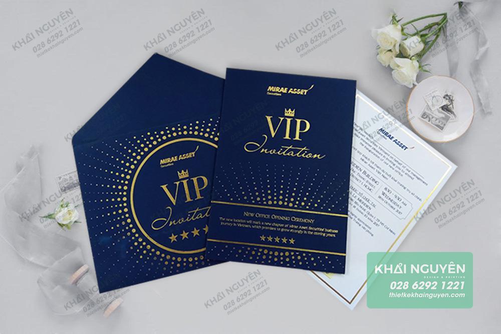 Thiệp mời VIP Invitation được gia công ép kim sang trọng - mẫu thiệp 2019