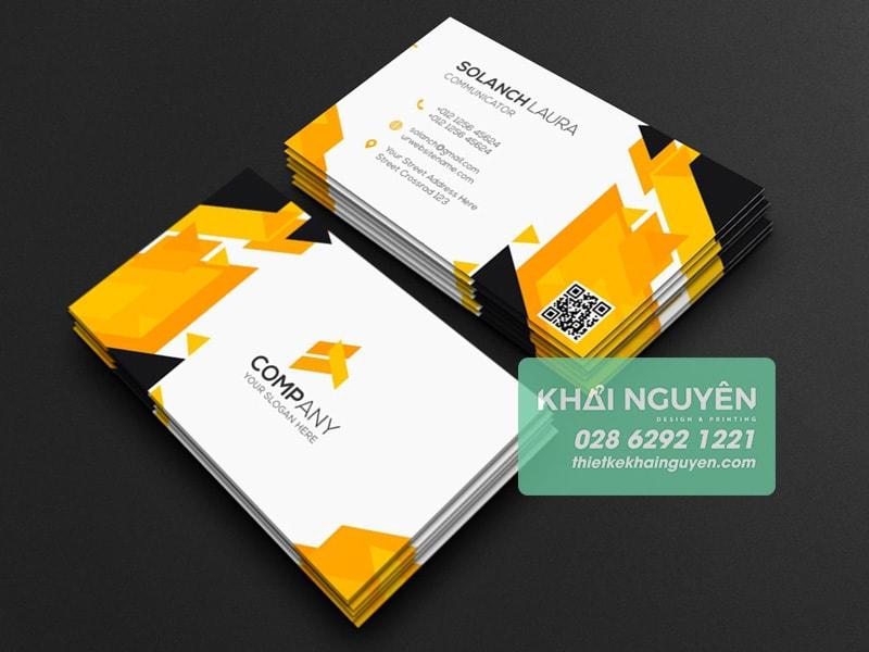 Thiết kế name card qrcode miễn phí