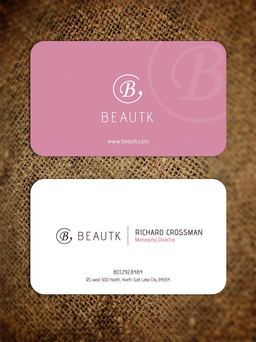 Bo 4 góc giúp mẫu name card mỹ phẩm trong đặc sắc hơn