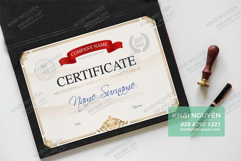 Certificate - mẫu giấy chứng nhận