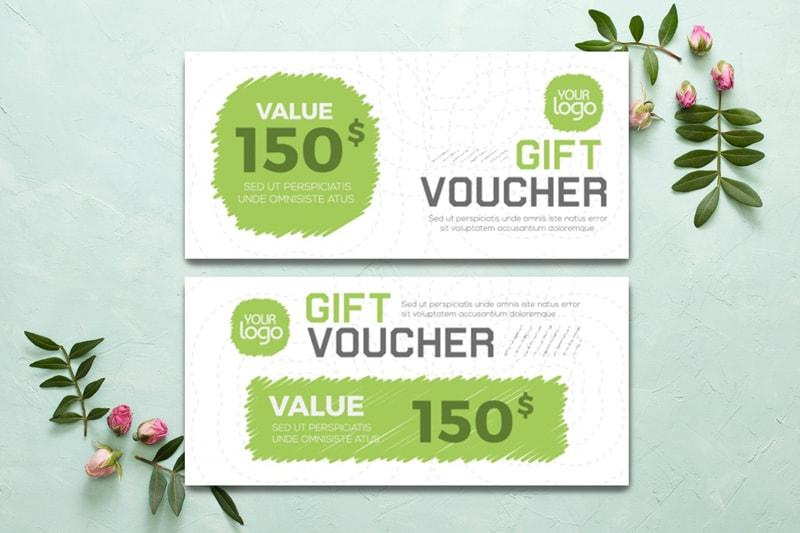 Gift voucher $150, đơn giản dễ thương