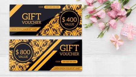 12+ mẫu gift voucher miễn phí đẹp để tự thiết kế.