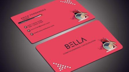 Mẫu card visit mỹ phẩm đẹp giúp chiếm lĩnh thị trường.