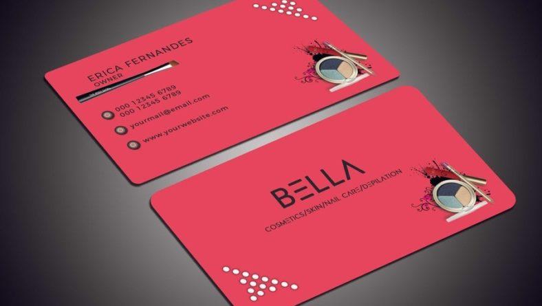 Mẫu card visit mỹ phẩm được in bằng nhựa PVC