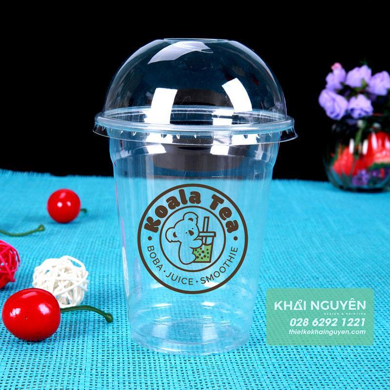 In logo dán ly nhựa cho quán trà sữa