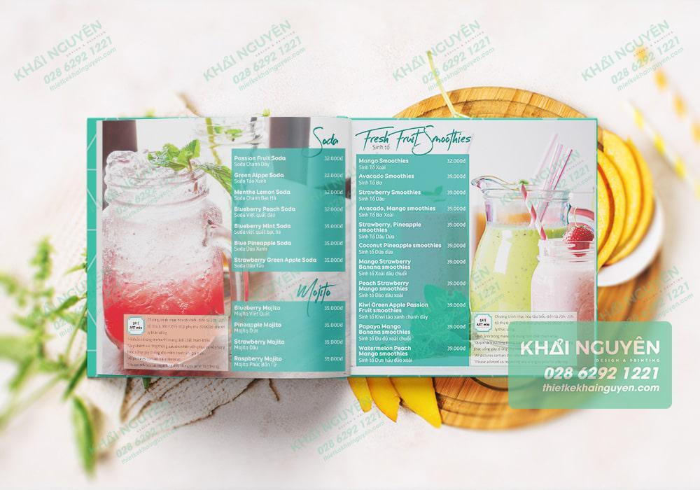 Thiết kế quán cafe đẹp không thể thiếu cuốn menu đẹp