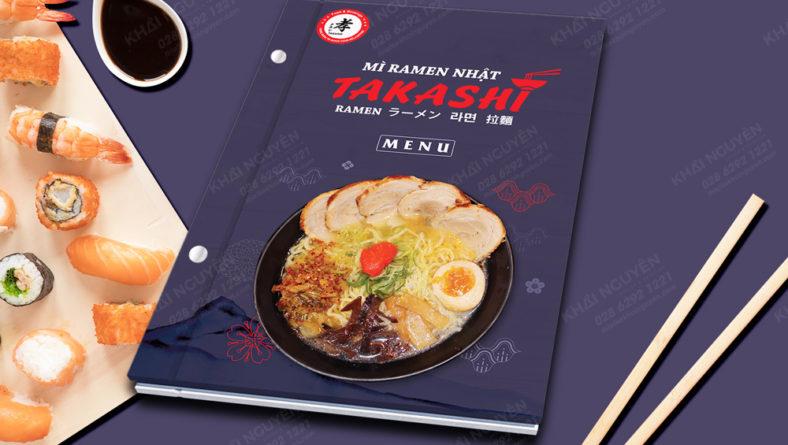 Mẫu menu bìa cứng cho nhà hàng Nhật