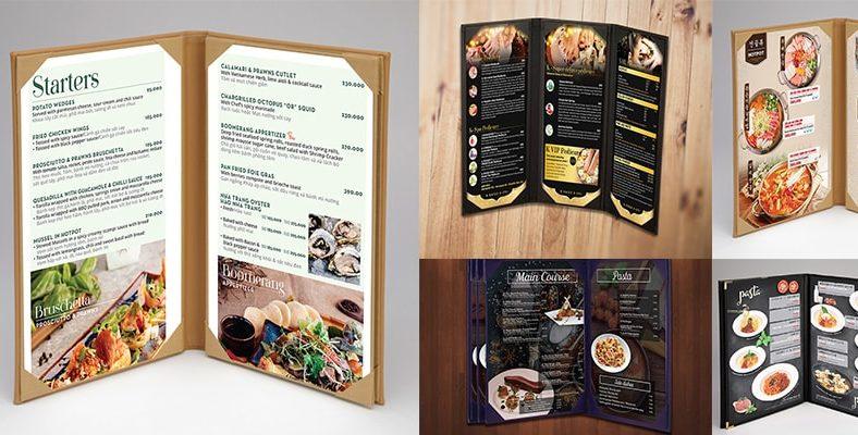 Menu bìa da - menu cover cao cấp