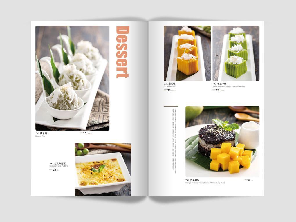 Dessert menu, đẹp và đơn giản