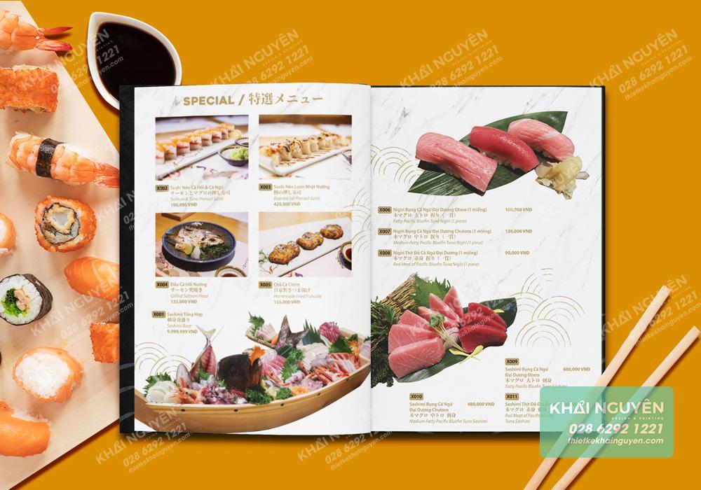 Món ăn Nhật đặc sắc hơn trong thực đơn đặc biệt