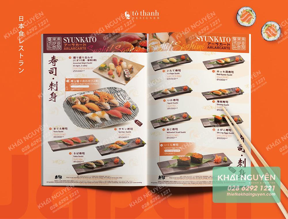 Sushi Món ăn không thể thiếu trong thực đơn nhà hàng Nhật