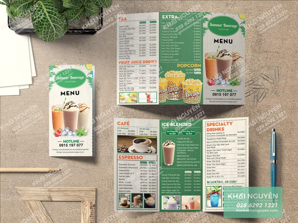 Summer Beverage Cool & Fresh - Mô hình cà phê trà sữa