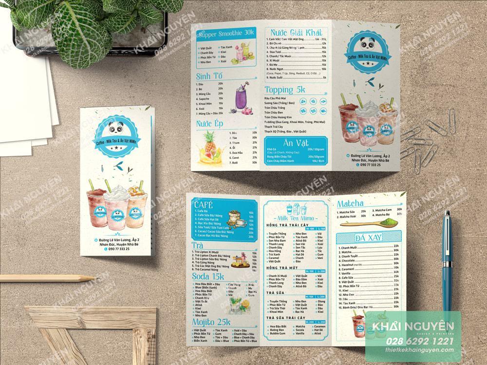 Trà sữa MiMo với thiết kế siêu cute