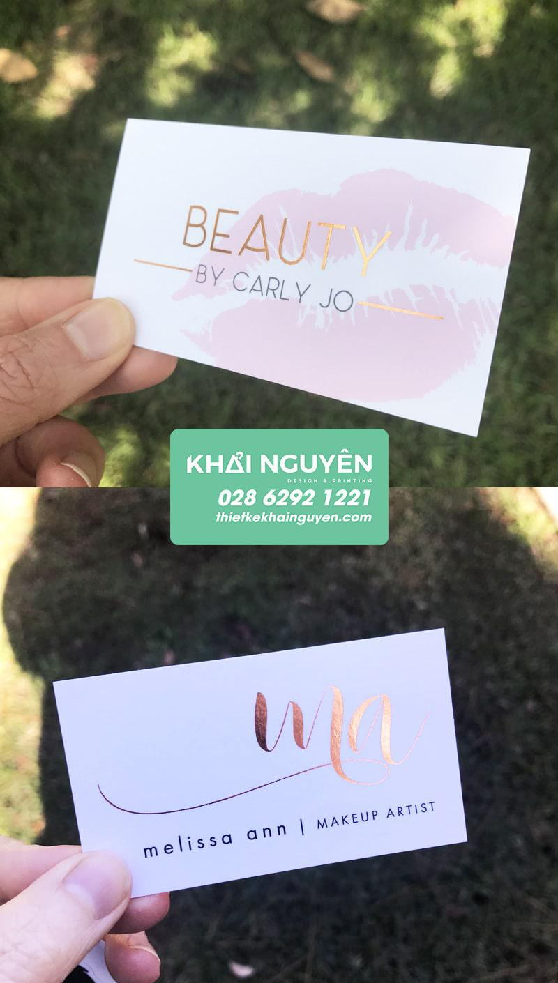 Ép kim cách điệu giúp name card có hồn hơn