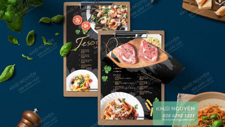 Nhà hàng kiểu Ý cũng có thể chọn kiểu menu onn page này